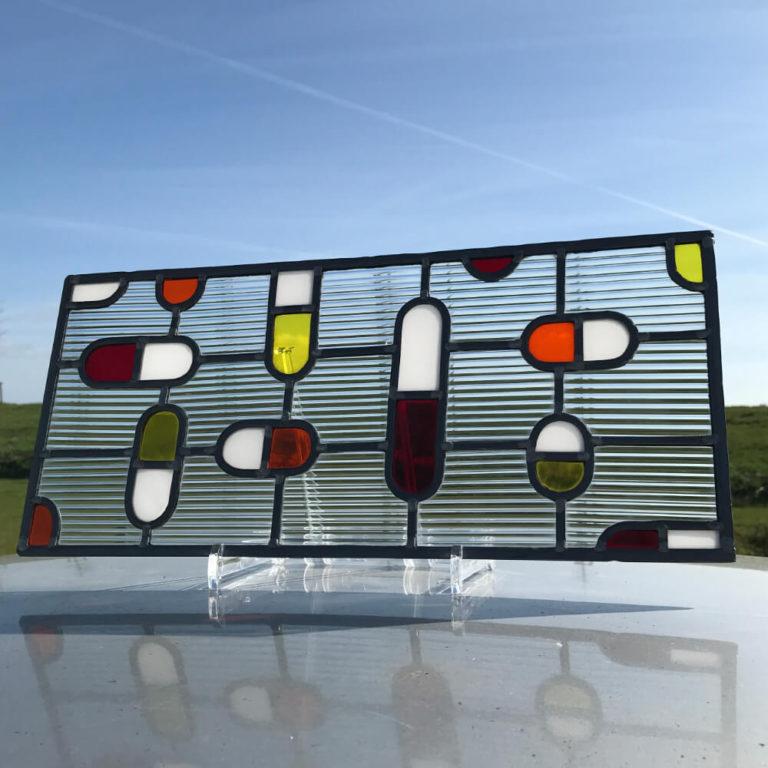 GlasParade   eigentijds ontwerp glas-in-lood