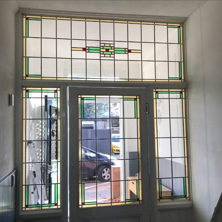 Klassiek ontwerp van glas-in-lood